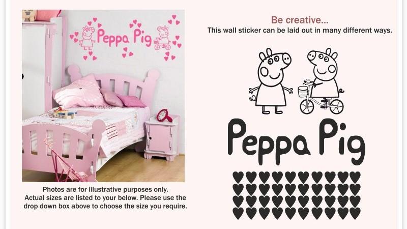 Peppa Pig Wall Sticker Kit